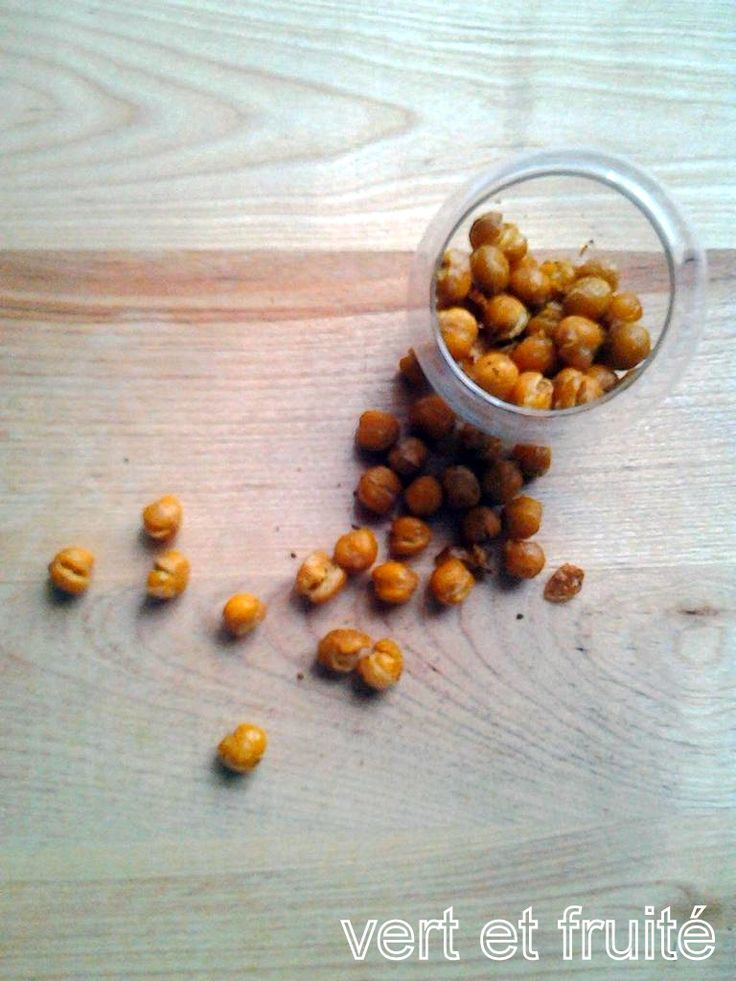 « Popcorn » de pois chiches | vert et fruité