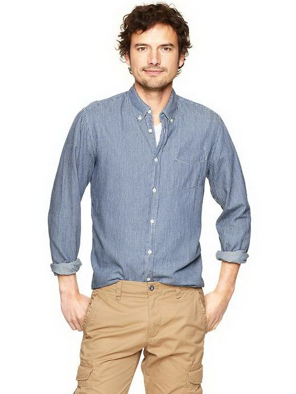 casual hoodies for men   Gap-Spring-2013-Casual-Shirts-for-Men_15