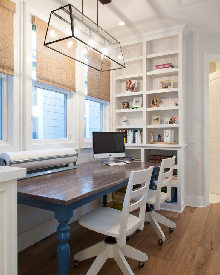 Home Office Beach Style Book shelves