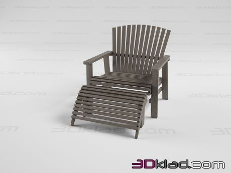 3d модель Кресло IKEA SUNDERO Lounger Ikea