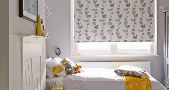 Birds Roller blind in bedroom - Style your guest bedroom with blinds, curtains and shutters from Hillarys. See our top tips for designs and fabrics for spare rooms and loft conversions.