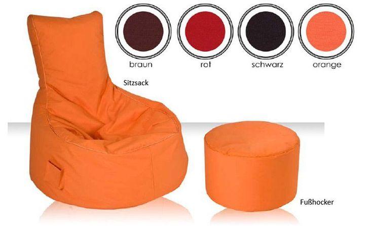 Sitzsack Outdoor Sessel mit Lehne