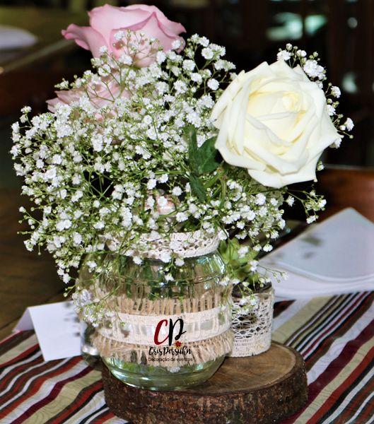 Centro de mesa para casamento rustico #casamento #casamentorustico #wedding