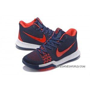 f652f645dd1b Nike Kyrie 3 Navy Blue Red Free Shipping