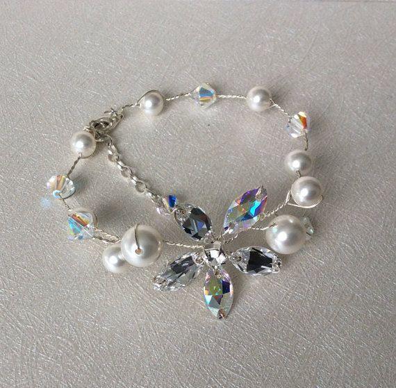 Bridal Bracelet Wedding Bracelet Wedding Jewelry by glamourbysonja