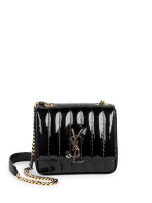SAINT LAURENT Small Vicky Patent Leather Crossbody Bag.  saintlaurent  bags   shoulder bags  patent  crossbody 18da28448ce
