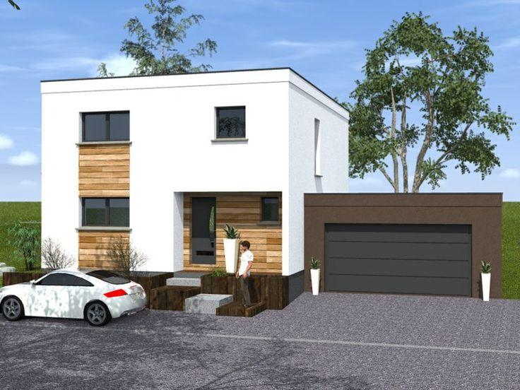 maisons cubiques maisons begi maison fa ade pinterest maison cubique architecture. Black Bedroom Furniture Sets. Home Design Ideas