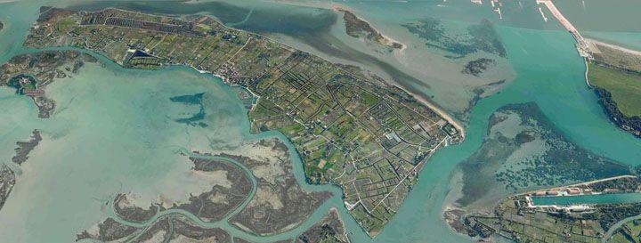 Isola di Sant'Erasmo nella laguna veneta