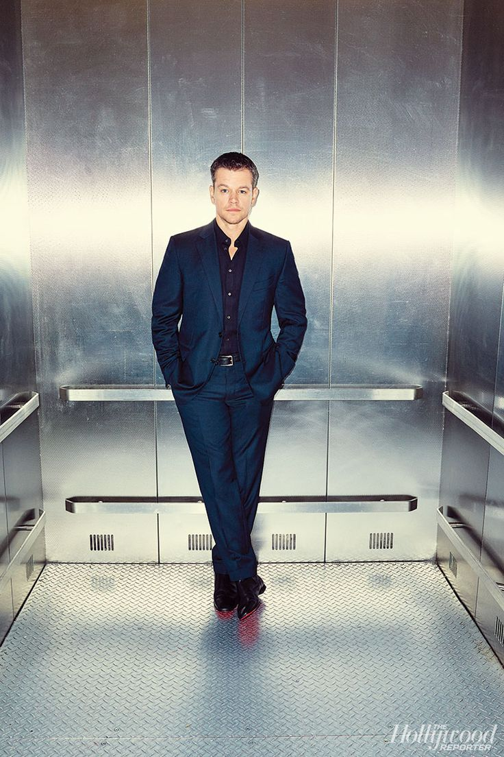 Matt Damon suits up for The Hollywood Reporter.