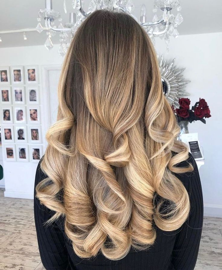 Beautiful Two Toned Blonde Hair With Dark Roots Styled