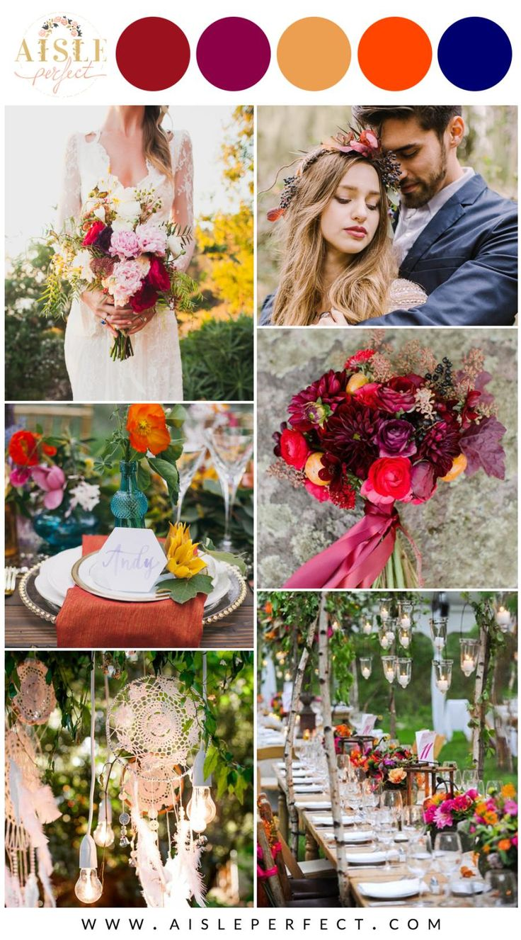 Bohemian wedding inspiration.
