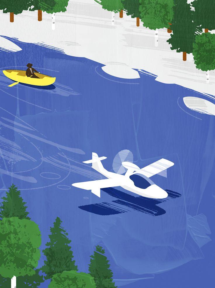 Illustration by Jukka Pylväs for Blue Wings magazine.