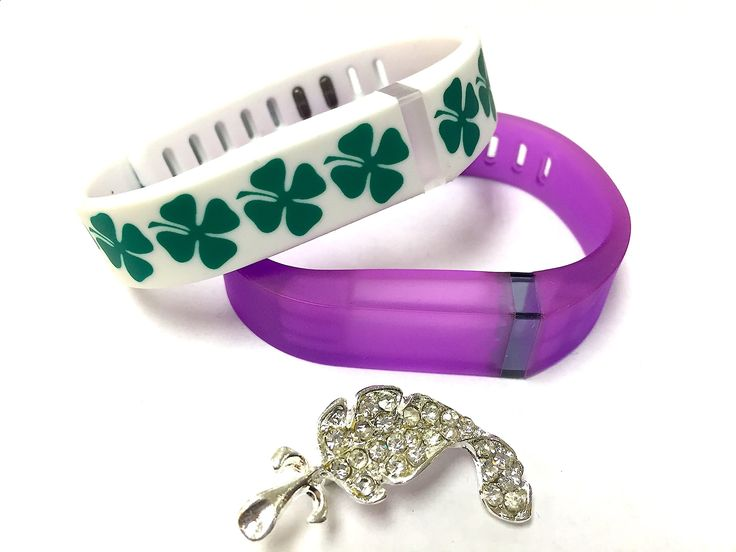 Activity Bracelets Fitness - Set Small S 1 White with Green Irish Lucky Clover 1 Clear Transparent Violet Colors Replacement Bands With Clasps for Fitbit Flex St. Patrics Day Good Luck Clovers /No tracker/ Wireless Activity Bracelet Sport Wristband Fit Bit Flex Bracelet Sport Arm Band Armband   Nice Crystals Feather Brooch. Set Small S 1 White with Green Irish Lucky Clover 1 Clear Transparent Violet Colors Replacement Bands With Clasps for Fitbit Flex St. Patrics Day Good Luck Clovers ...
