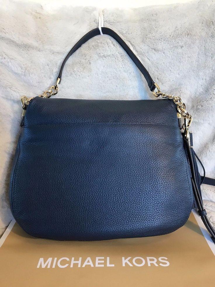 (100+) Tumblr Michael Kors Handbag Nwt michael kors bedford large tassel  conv. shoulder bag in navy (sale! a970e8b8cac9d