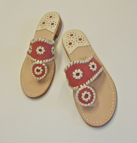 These Jack Rogers are killer...genuine Nantucket Red, to my knowledge, only available from Murray's. I fully intend to procure these and a Nantucket Red skirt to take up to the lake this summer.