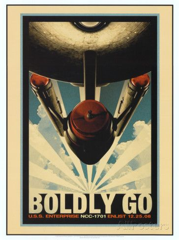 Star Trek Movie Boldly Go Poster Print Prints at AllPosters.com