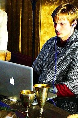 """LIKE JUST A MINUTE DAD!!!!! I HAVE TO CHECK MY FACEBOOK TO MAKE SURE CENRID ISN'T PLANNING ANOTHER ATTACK AND THEN I NEED TO CHECK THE CROPS ON FARMVILLE!!! Gosh!!!"" ~~~Arthur Pendragon, the teenage years"