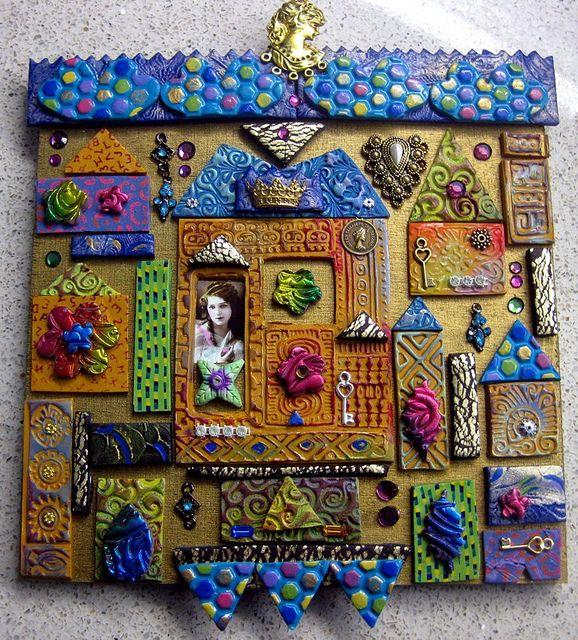 """house"" in polymer clay of various tiles. fun! by yehudity / yehudit"