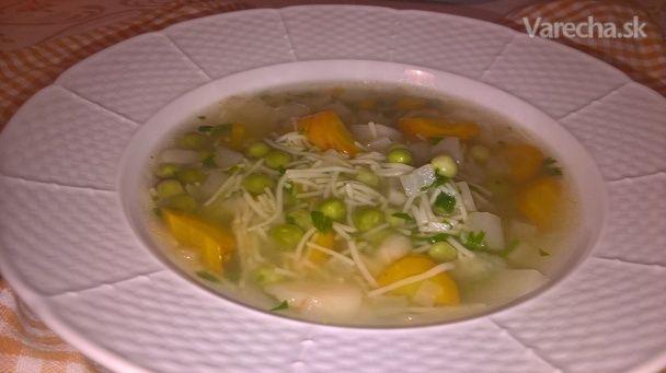 Hrášková polievka s kvakou - Recept