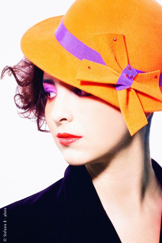 Orange is the new black...  Mademoiselle Slassi (Paris).