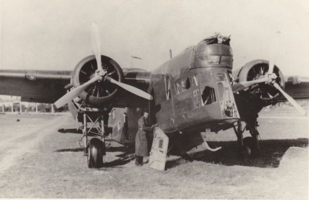 """LWS-6 """"Żubr"""" captured in September 1939 by German troops. LWS-6 Żubr (PZL.30 Żubr) was a Polish twin-engined medium bomber, produced by the LWS factory before World War II. It was designed by PZL in the early 1930s, initially as a passenger aircraft. First flight 1936, start of production - 1938. A short series was used for training only, because it was inferior to the PZL.37 Łoś design"""