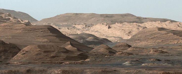 "Curiosity's view of ""Mount Sharp"" (September 9, 2015)....kinda looks like the Badlands of South Dakota ....."