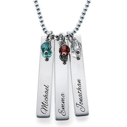 Please select number of birthstones based on number of pendents selected. Can extra birthstones be added in addition to amount shown. What will my Engraved Necklace look like?