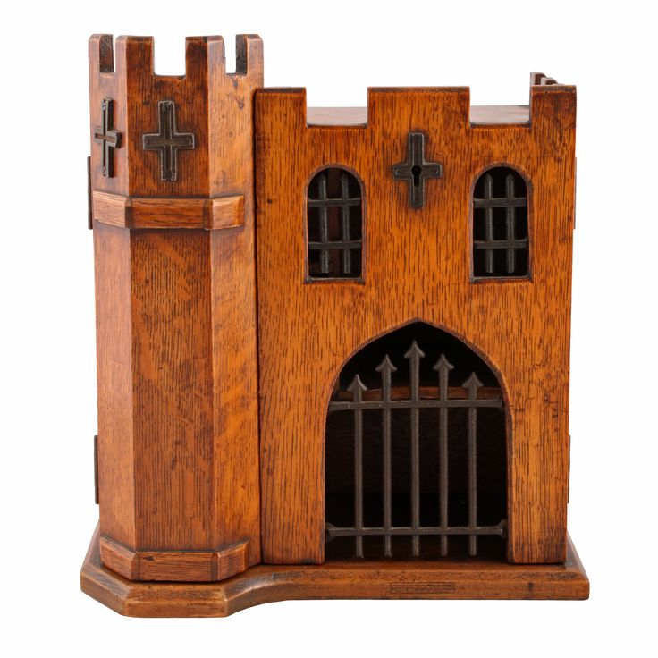 Oak Castle Smoker's Cabinet