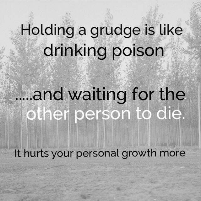 Why do people hold grudges?