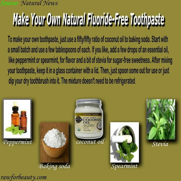 All Natural Flouride Free Toothpaste Recipe