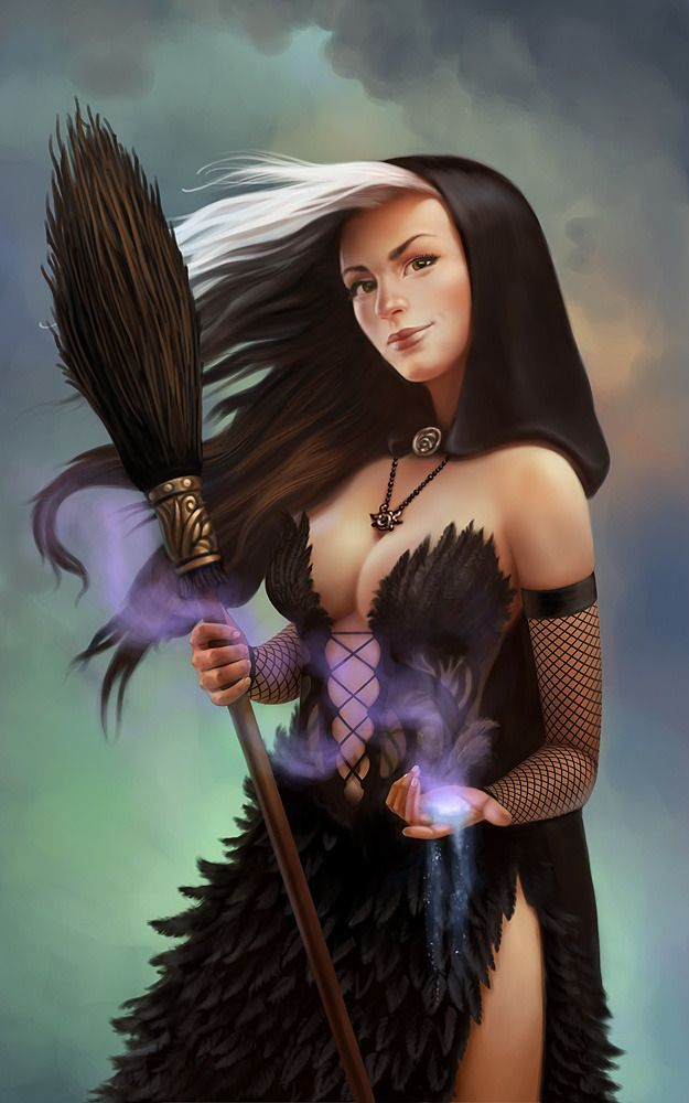 Maeva Picture (2d, fantasy, witch, shaman, magic, staff) | Fantasy ...