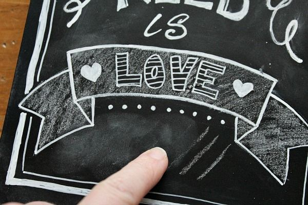 Great tips for creating your own chalkboard art!