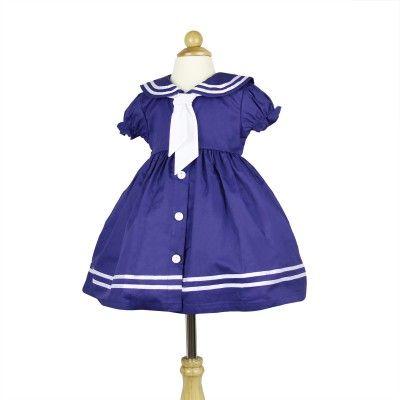 Girls Cotton sailor dress QSDS632