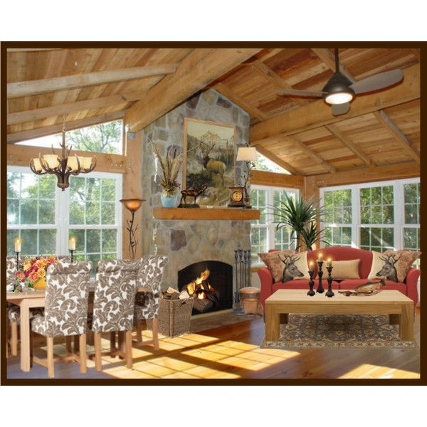 Modern Log Cabin by fasionpassiongirl on Polyvore