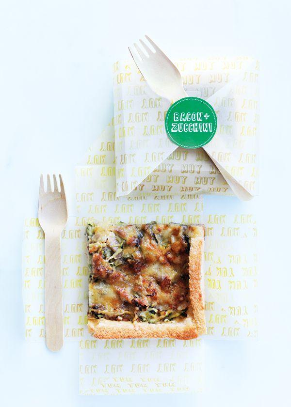 bacon and zucchini slice