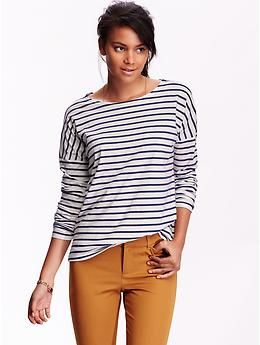 Women 39 S Striped Long Sleeve Tops Old Navy Stich Fix
