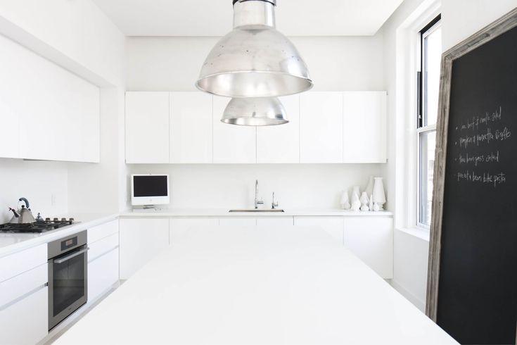 Modern New York City Union Square Loft Renovation | White Kitchen Island  Custom Cabinets | RES4 | Pinterest | White Kitchen Island, Custom Cabinets  And ...
