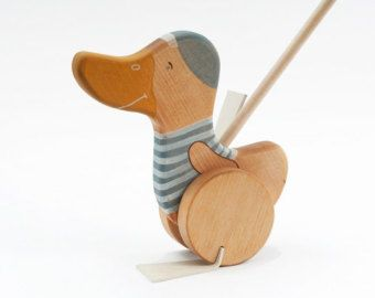 Wooden Kids Toy, eco-friendly Goose push toy