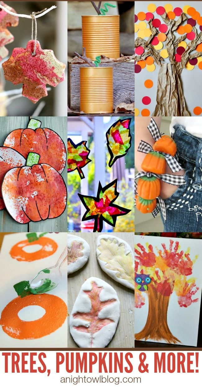 The kids will love making these fun fall DIY crafts with Crayola paint! | fall crafts for kids