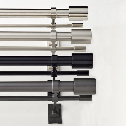 "Oversized Adjustable Metal Rod - Double Rod  Please Select Size: 28""-48"""