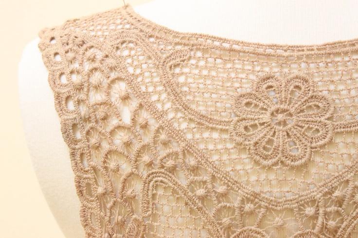 Tan  Color Cotton Applique // Good for Back Piece. $3.90, via Etsy.