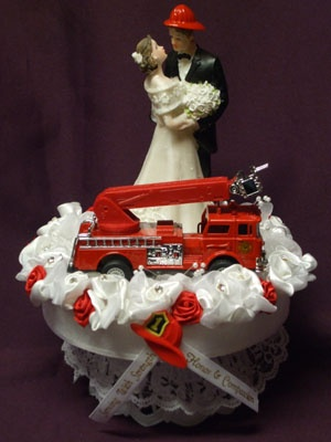 fire truck wedding cake toppers fighter his amp truck cake topper wedding 14279