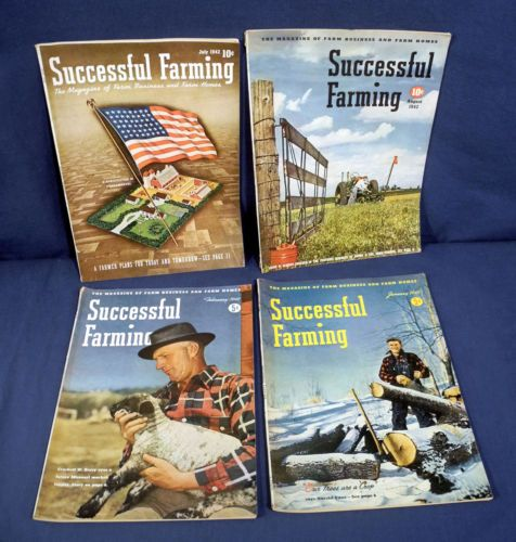 4-Successful-Farming-Magazines-January-February-July-August-1942-Farm-Business