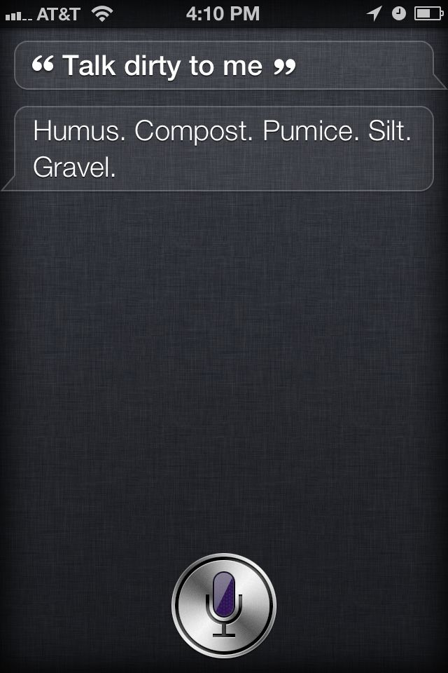 There is a S*** Siri Says website--this one in particular made me laugh out loud. . .