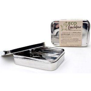 ECOlunchbox Solo Rectangle, rechteckige Brotdose aus Edelstahl: Amazon.de: Küche & Haushalt