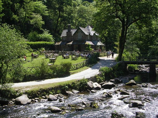 Watersmeet House is in a very tranquil setting in North Devon and is owned by the National Trust. It was in the 19th century a private fishing lodge, now in the summer months it is a tea room for walkers from Lynmouth.