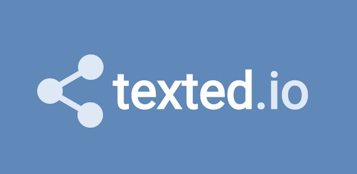 Texted.io  Send text blasts to groups receive individual replies