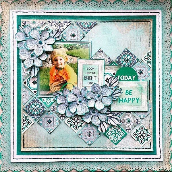 Absolutely adore this gorgeous Ubud Dreams layout by @merlyimpressions  We can't get enough of the pretty, hypnotic patterns in this collection #kaisercraft #merlyimpressions #scrapbooking #layout #ubud