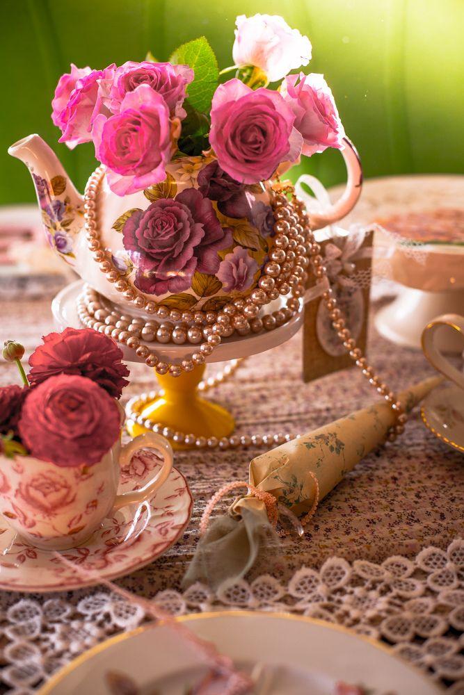 Afternoon Tea Table Decoration | von Cute Cottage Overload