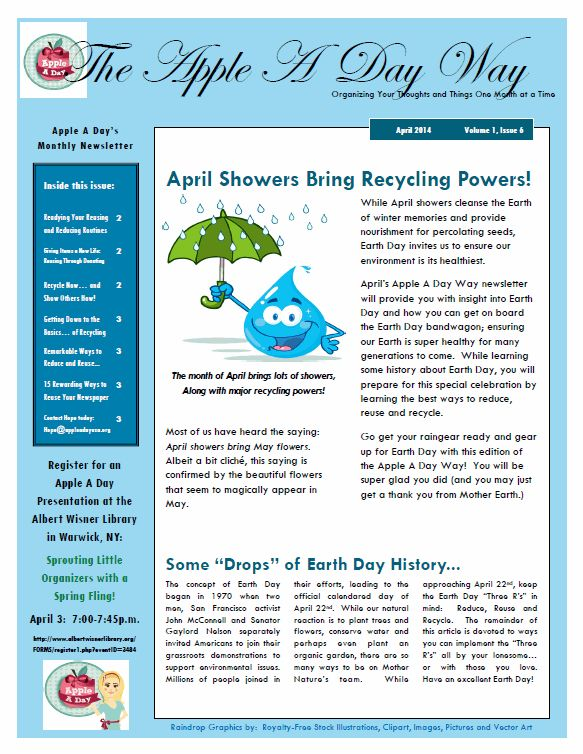 Best The Apple A Day Way Monthly Newsletter Images On